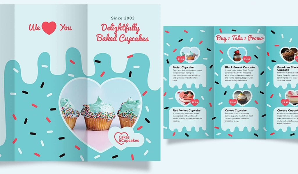 The sweet brochure template