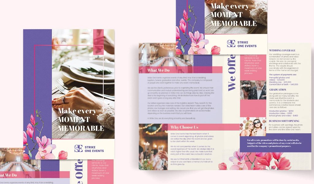 Event-suitable Brochure template