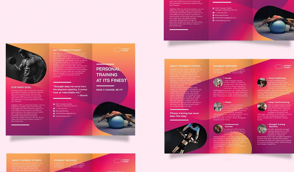 Tri-fold brochure in irresistible colors