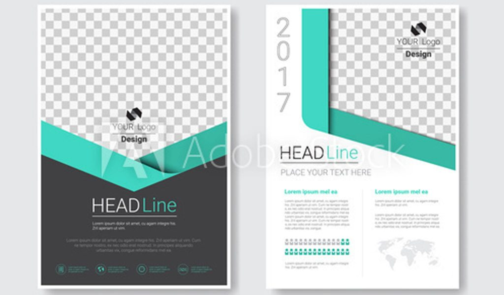 Bold Black and Teal Template