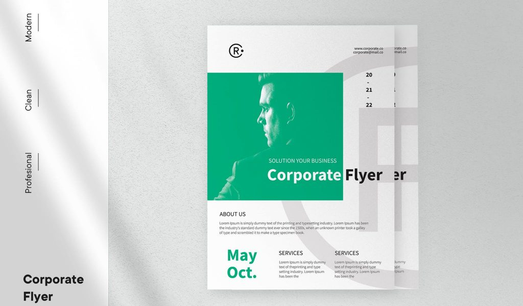 Professional, Clean, and Modern Flyer Template
