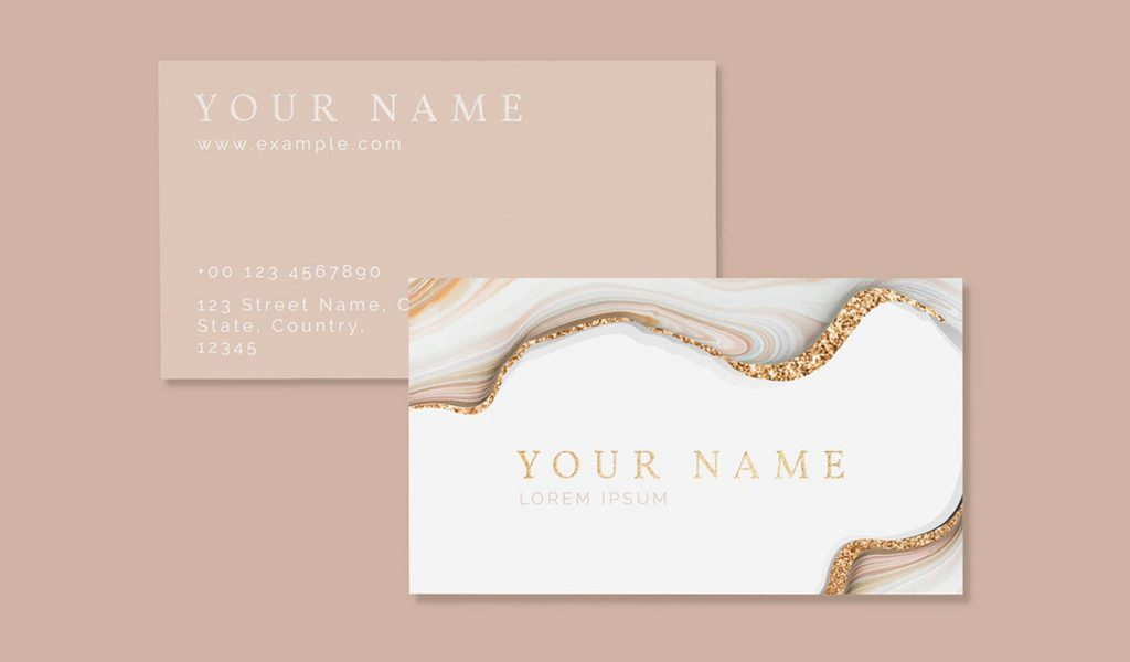 The golden details business card
