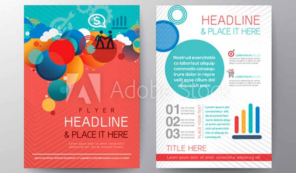 Innovative flyer with circle elements