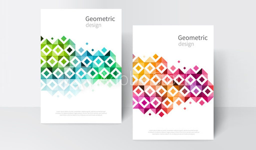 Geometric paradise flyers templates