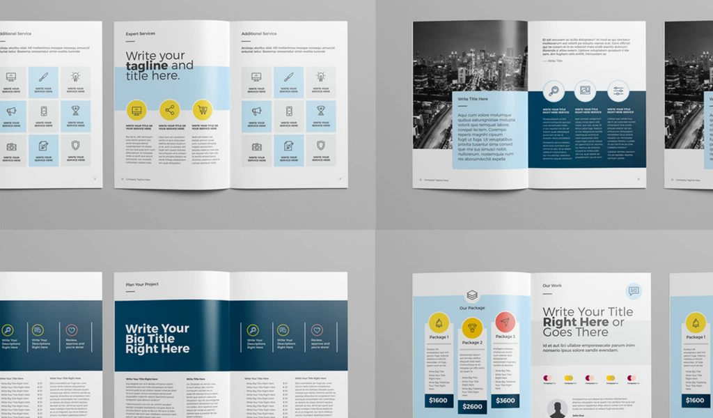 Geometry over everything brochure template