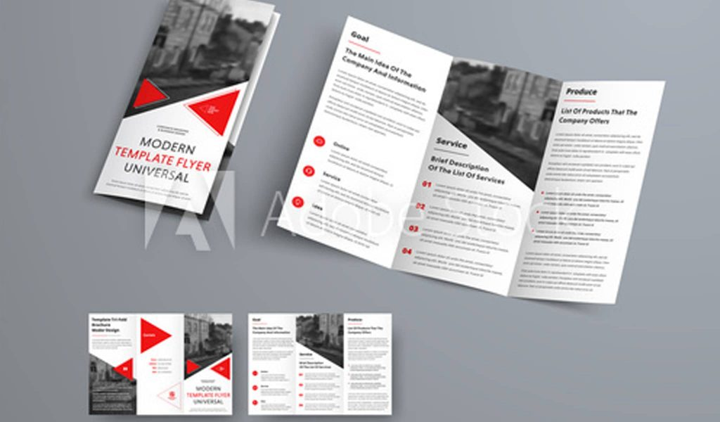 Black and Red elegance brochure template