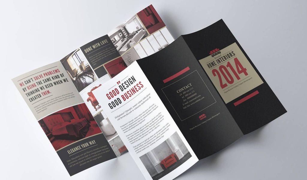 Picture-rich brochure template