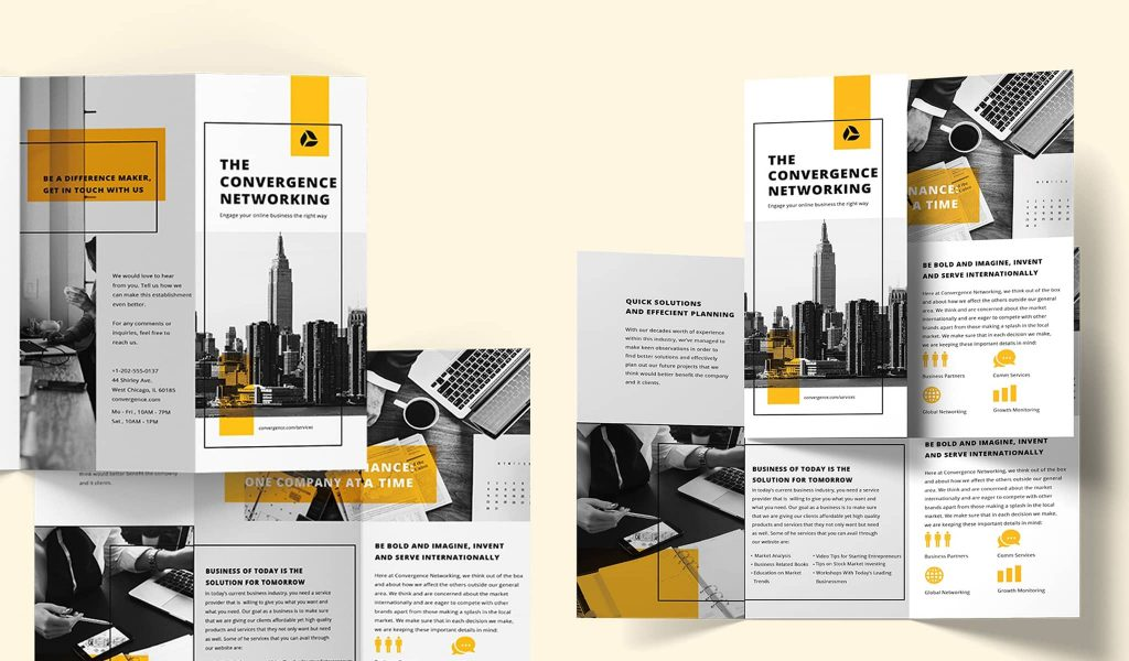 Modern yet professional layout brochure template