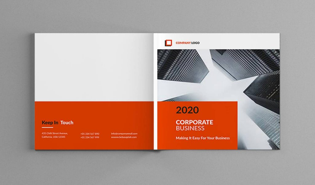 Square Corporate Business Brochure template