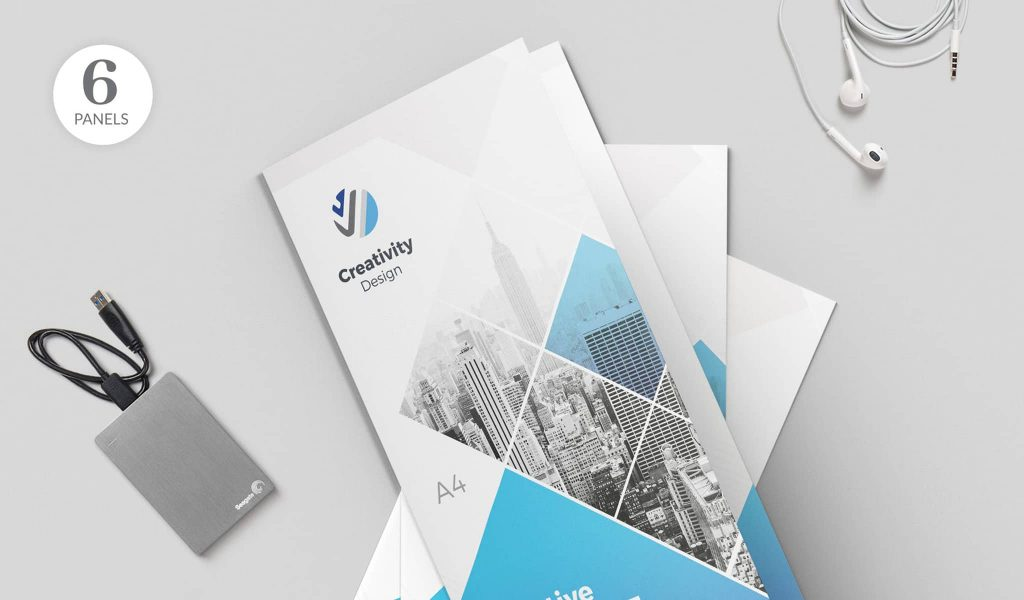 The fading effect brochure template