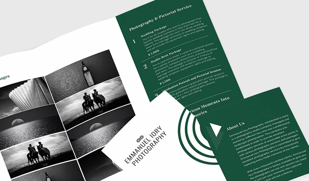 Classical yet modern combination brochure template