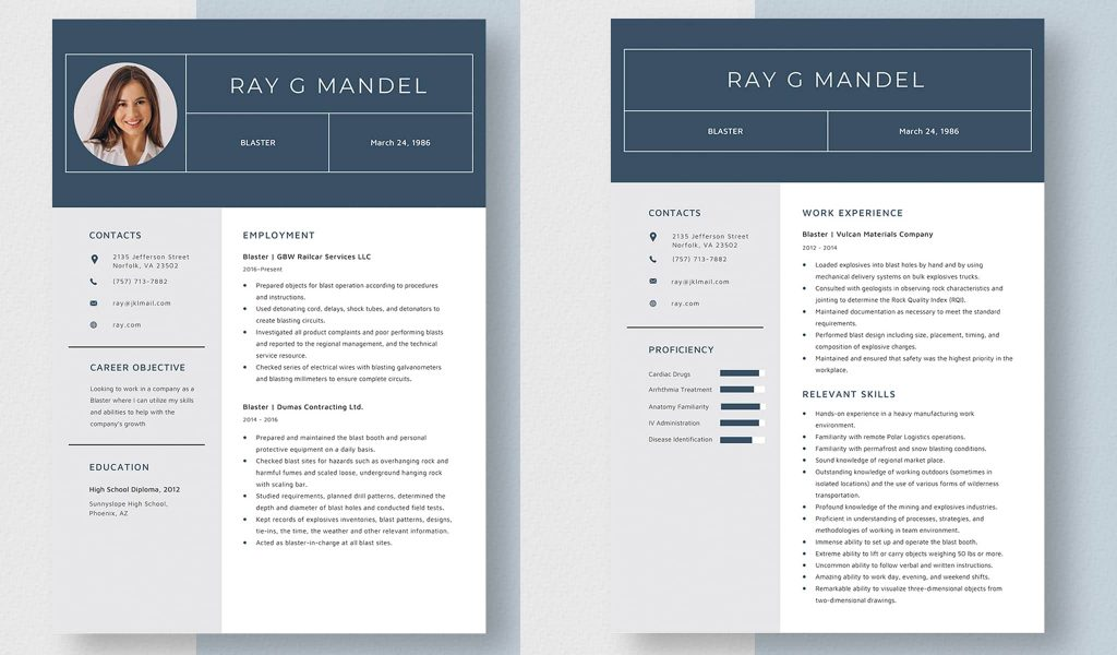 Clean and strong resume template