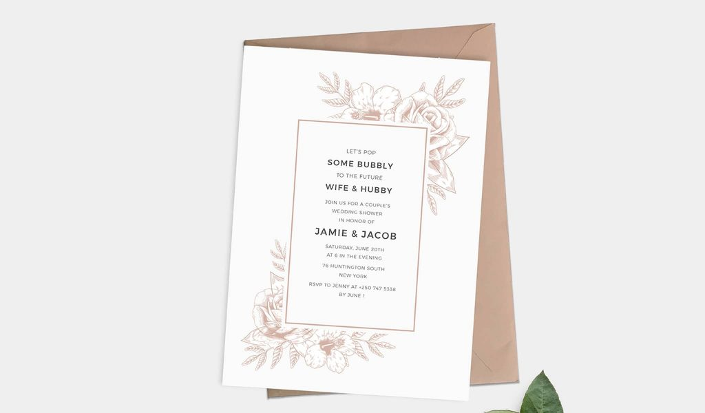 One-side Soft Invitation Template